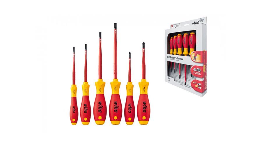 image of Wiha 6pc VDE slimFix screwdriver set (36455)