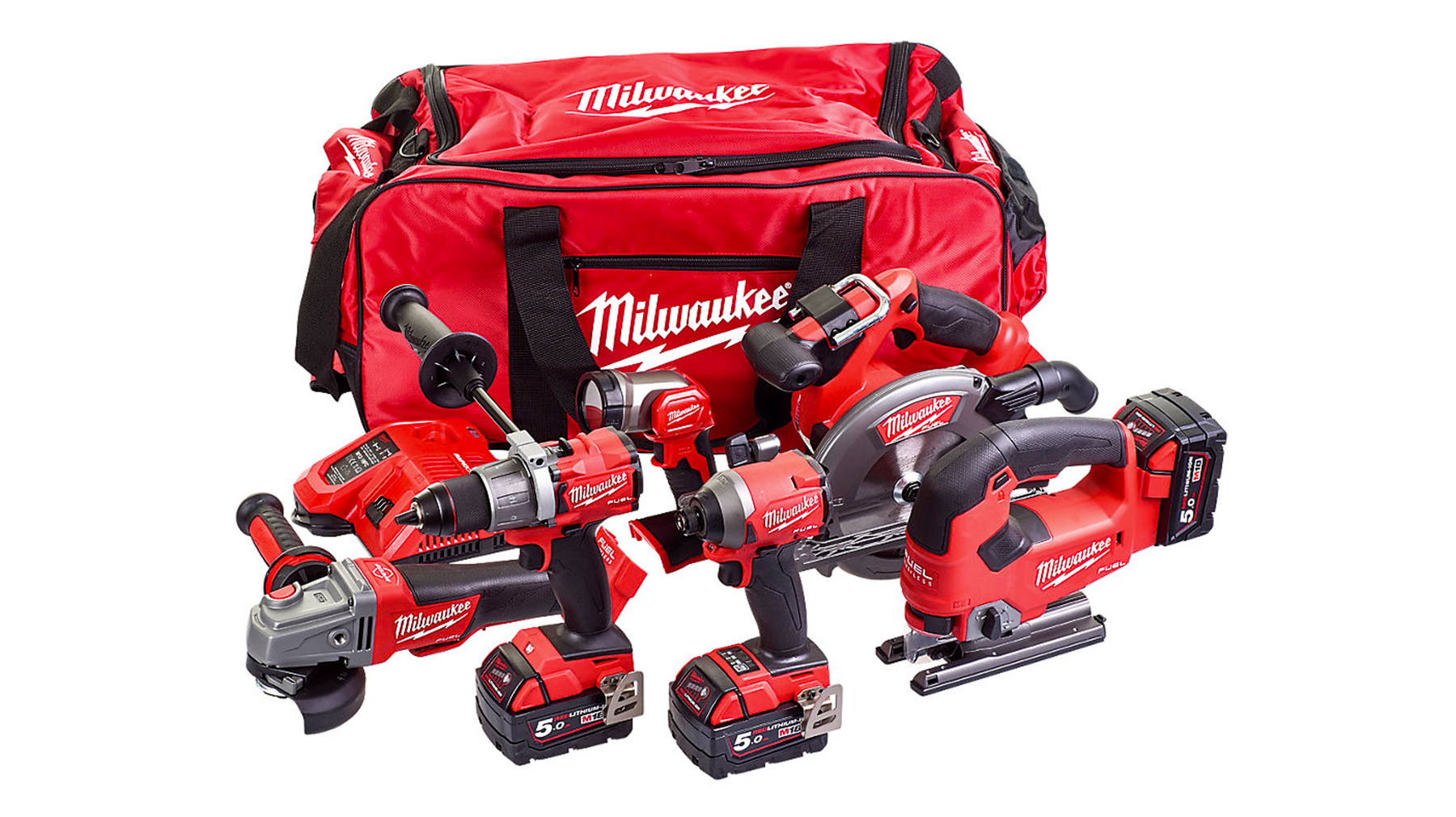 image of Milwaukee 6 Piece M18 Cordless Kit