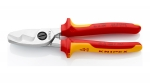 Image of Knipex 95 16 200 Cable Shears With Twin Cutting Edge
