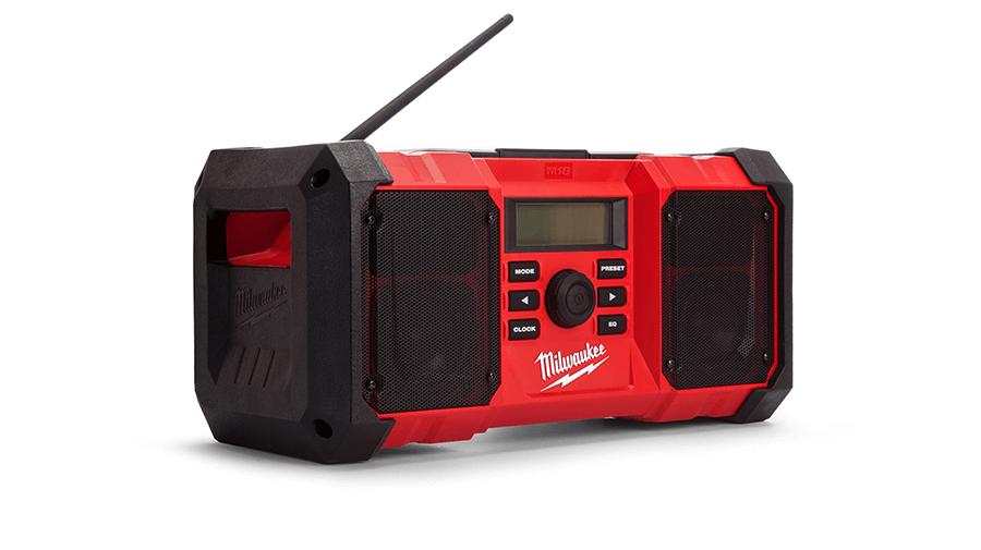 Milwaukee M18JSR-0 Jobsite Radio AM//FM tuner radio Corps Seulement