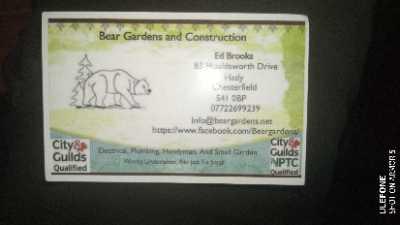 Bear Gardens and Construction Verified Logo