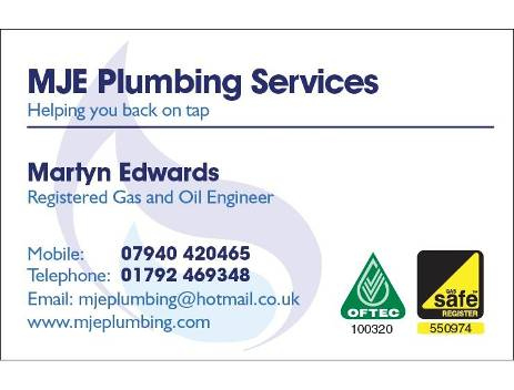 MJE Plumbing Services Verified Logo