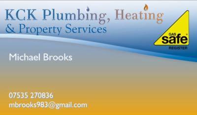 KCK Plumbing, Heating & Property Services Verified Logo