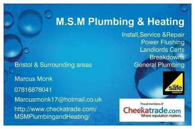 M.S.M Plumbing & Heating Verified Logo