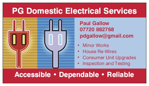 PG Domestic Electrical Services Verified Logo